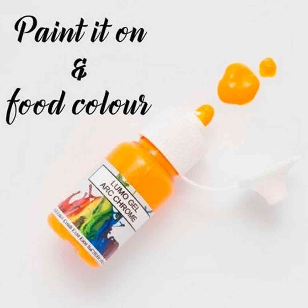 Rolkem Arc Chrome Orange Lumo Sugarcraft Edible Cake Decorating Paint