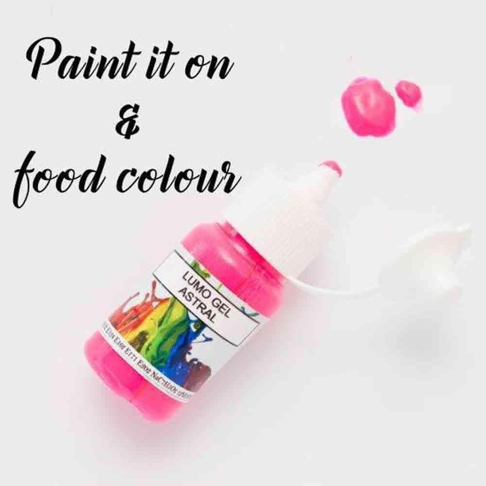 Rolkem Astral Pink Lumo Sugarcraft Edible Cake Decorating Paint 15ml