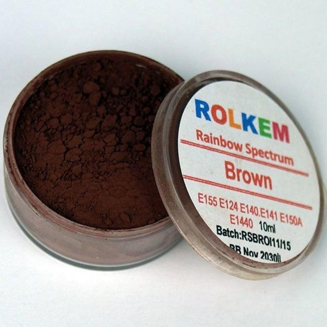 Rolkem Brown - Rainbow Spectrum Dusting Colour 10ml