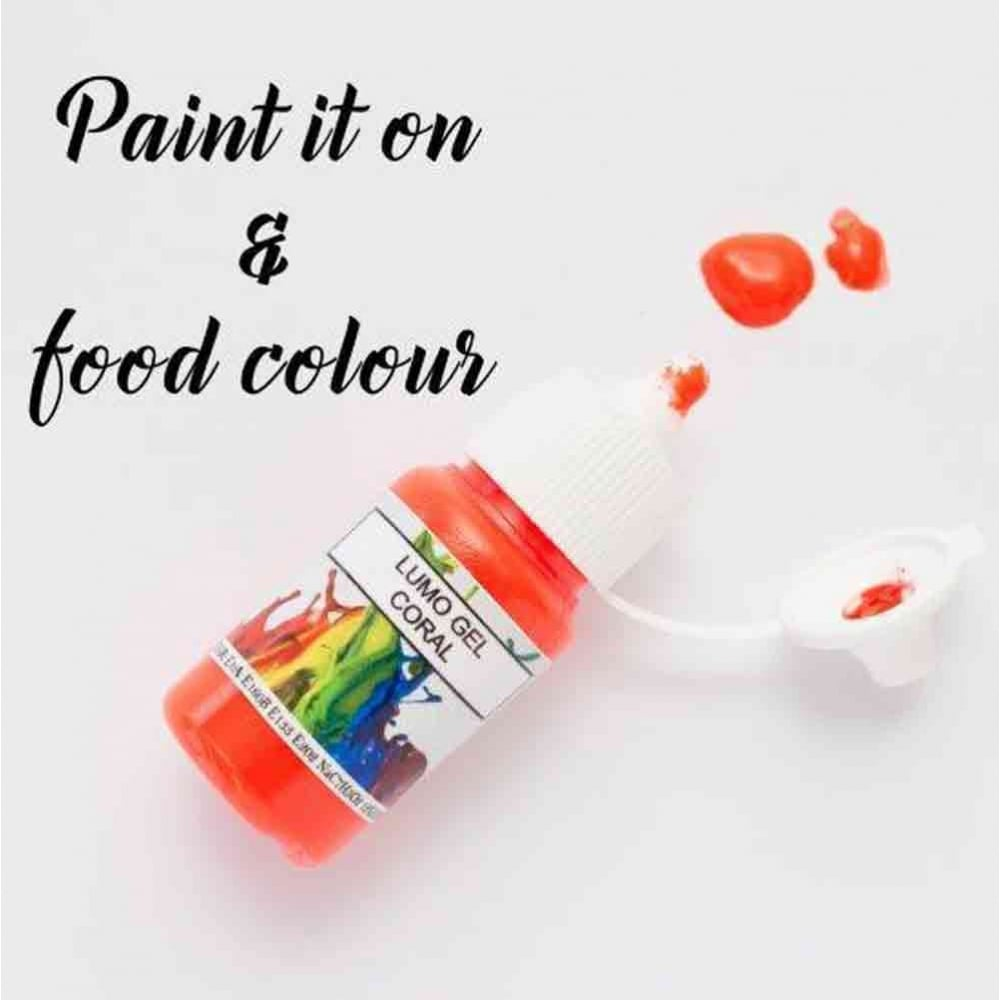 Rolkem Coral Orange Lumo Sugarcraft Edible Cake Decorating Paint 15ml