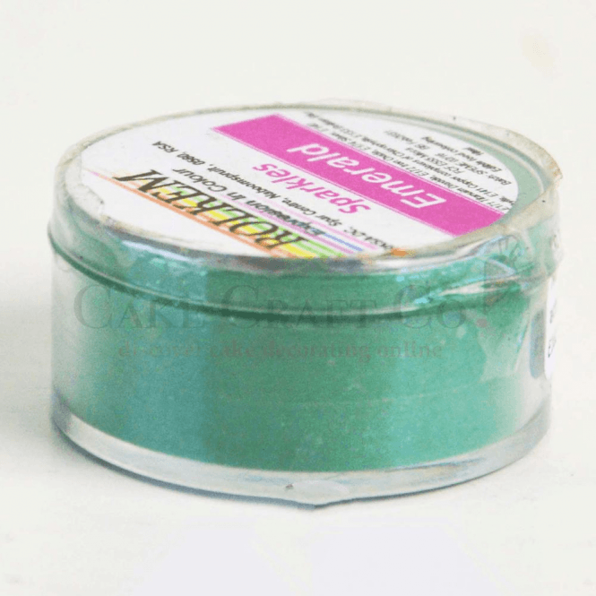 Rolkem EMERALD Sparkle Sugarcraft Lustre Dust Edible Food Icing Colouring 10g
