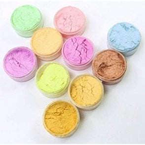 FULL SET of ALL 10 - BLUSH Pastel 'Satin Finish' Lustre Dusting Colours 10ml
