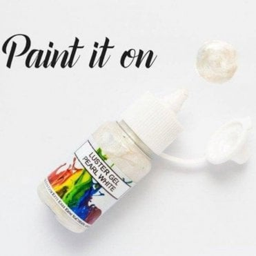 Pearly White - Gel Lustre Edible Paint