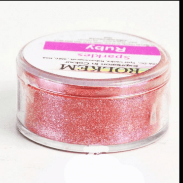 RUBY Sparkle Sugarcraft Lustre Dust Edible Food Icing Colouring 10g