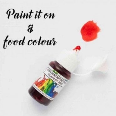 Scarlet Red - Concentrates Edible Paint 15ml