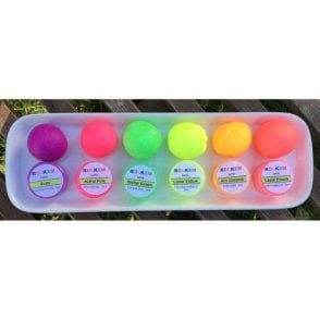 Set of 6 - Neon/Lumo/Luminosity/Glow in the Dark Edible Cake Decorating/Sugarcraft Dusting Colour 10ml