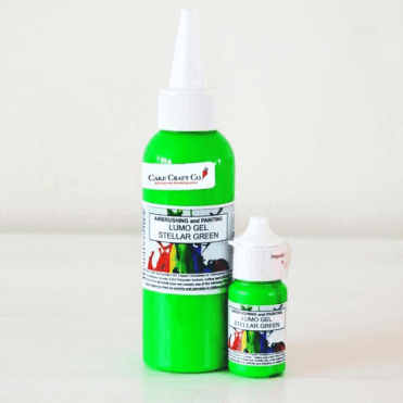 STELLAR GREEN - Neon/Lumo/Luminosity/Glow in the Dark/Fluorescent Edible Paint & Gel - Choose Your Sizes