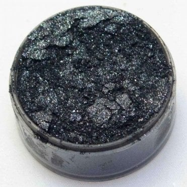 Super Black - Metallic Edible Luxury Lustre Dusting Powder 10ml - Cake Decorating & Sugarcraft