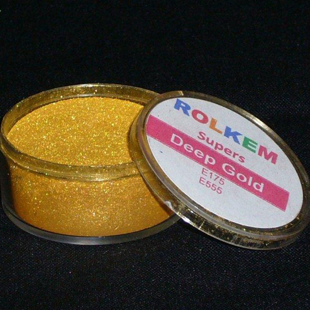 Rolkem Super Deep Gold - Metallic Luxury Lustre Dusting Colour - Decorating  & Sugarcraft 10ml