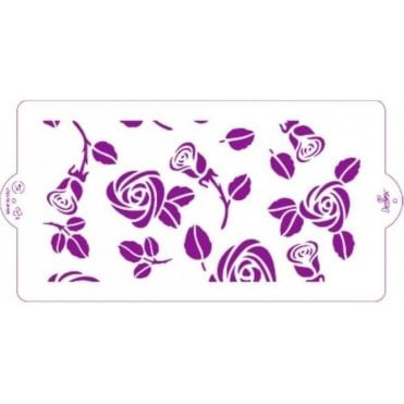 Roses - Cake Decorating Stencil 15 x 30cm