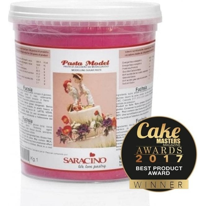 Saracino Fuchsia Pink - Italian Sugar Flower & Modelling Paste - Choose Your Sizes