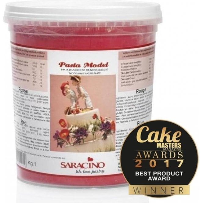 Saracino Red - Italian Sugar Flower & Modelling Paste - Choose Your Sizes