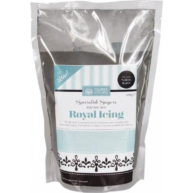 Squires Kitchen 500g Tuxedo Black Professional Royal Icing Instant Mix
