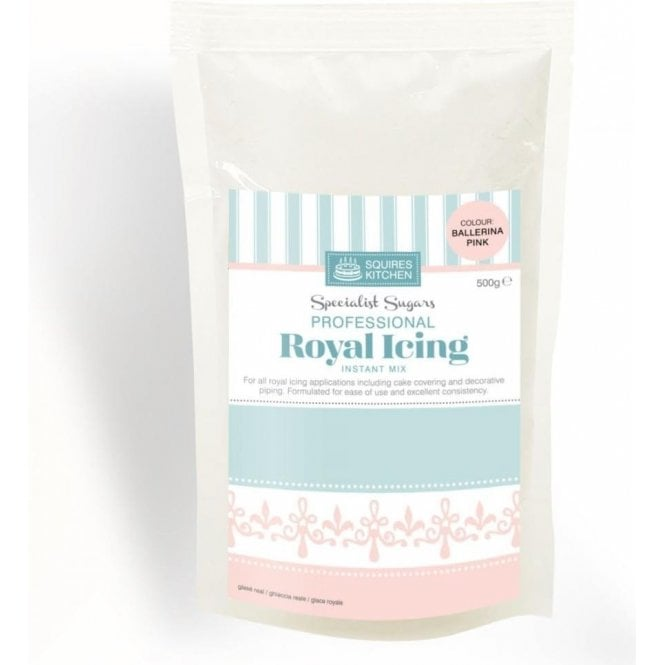 Squires Kitchen Ballerina Pink - Royal Icing Instant Mix 500g