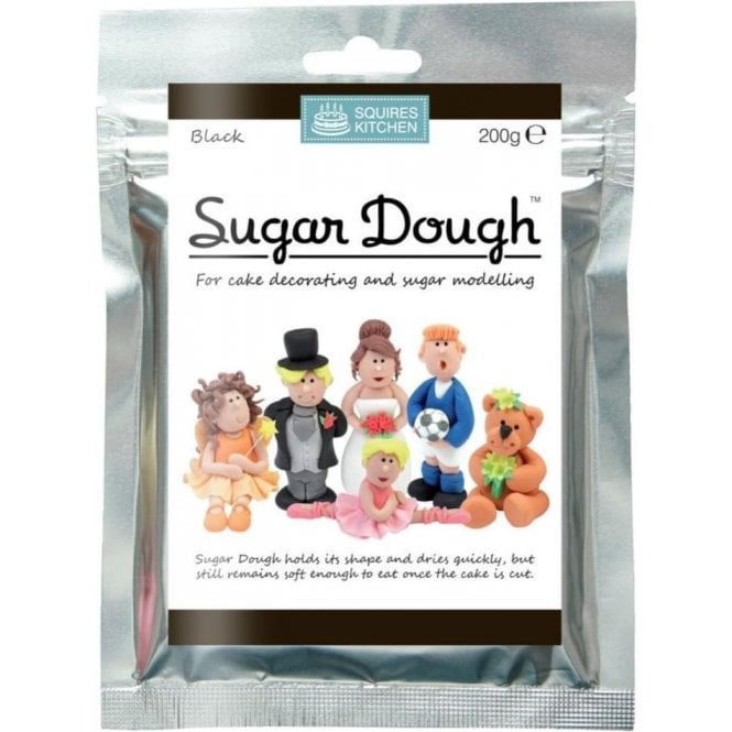 Squires Kitchen Black - SK Sugar Dough Modelling Paste 200g