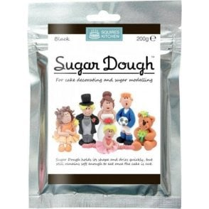 Black - SK Sugar Dough Modelling Paste 200g