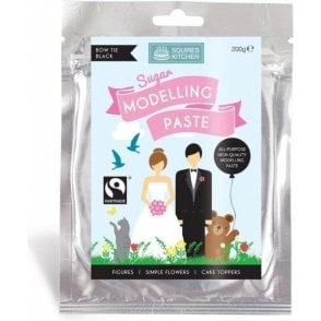 Bow Tie Black - SK Fairtrade Sugar Modelling Paste 200g