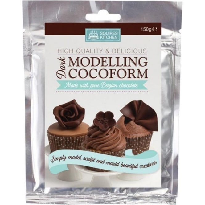 Squires Kitchen Dark Belgian Chocolate - SK Modelling Cocoform - Choose Your Sizes