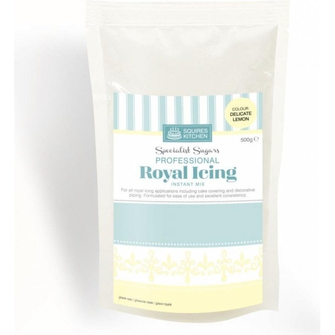 Squires Kitchen Delicate Lemon - Royal Icing Instant Mix 500g