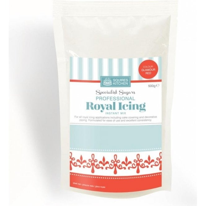 Squires Kitchen Glamour Red - Royal Icing Instant Mix 500g