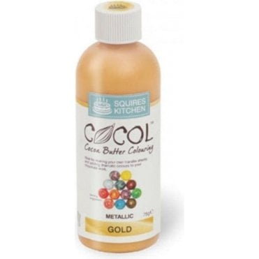 Gold Metallic - SK Professional COCOL Cocoa Butter Colouring 75g