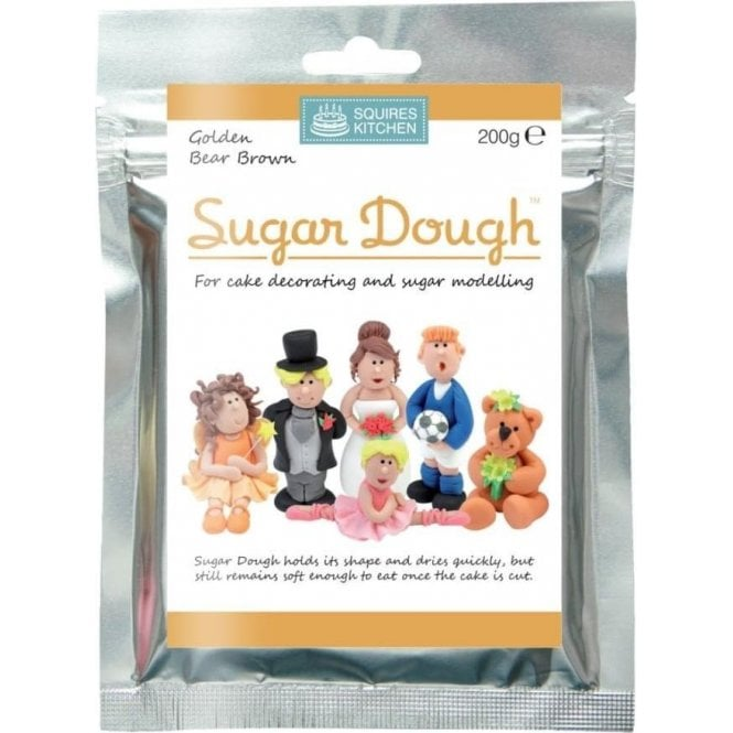Squires Kitchen Golden Bear Brown- SK Sugar Dough Modelling Paste 200g