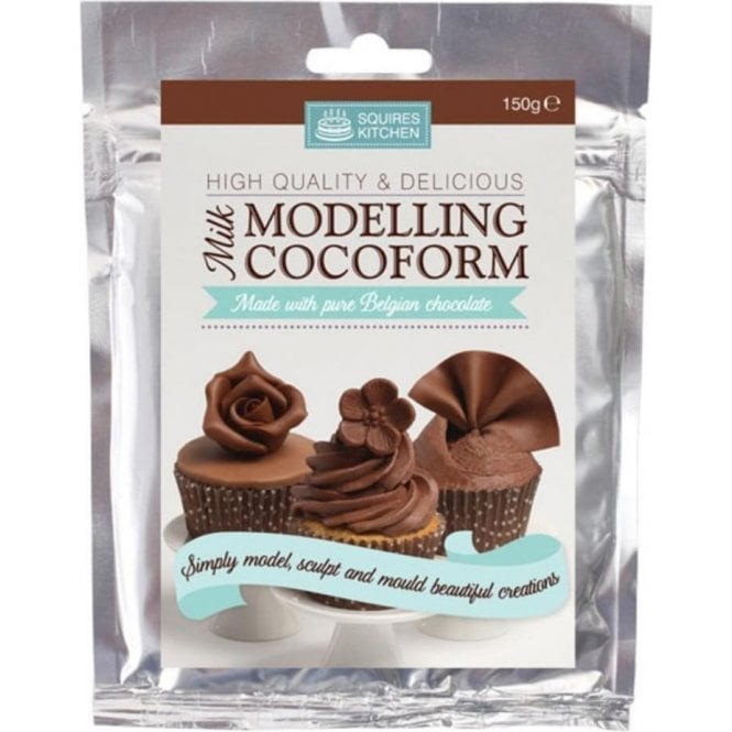 Squires Kitchen Milk Belgian Chocolate - SK Modelling Cocoform - Choose Your Sizes