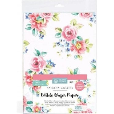 SK Edible Wafer Paper by Natasha Collins: Big Blooms