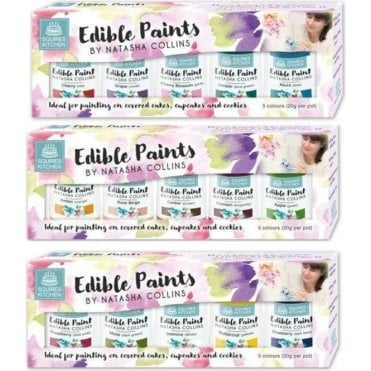 SK Natasha Collins Edible Paint Set - Complete of all 3 Sets