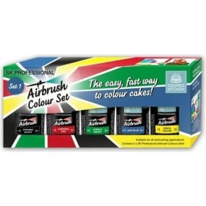 SK Professional Airbrush Food Colour Set - Kit 1