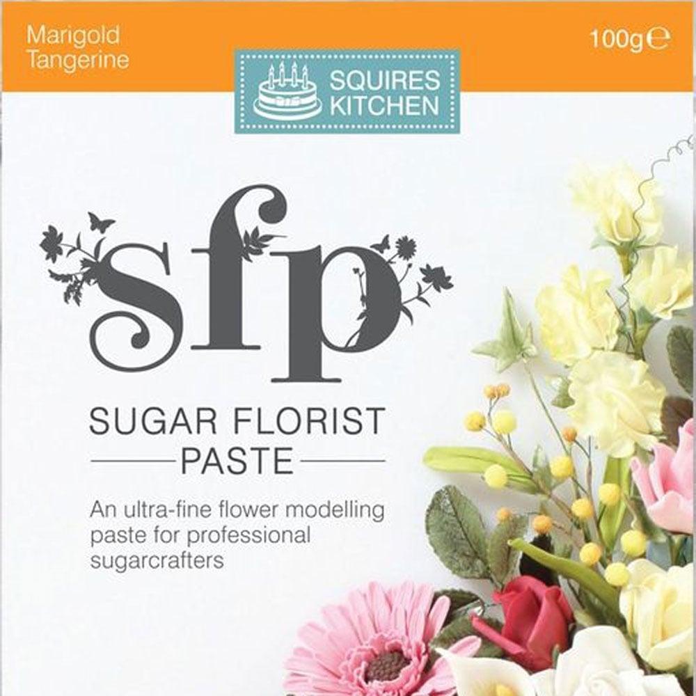 Tangerine - Sugar Florist Paste SFP 100g by Squires Kitchen