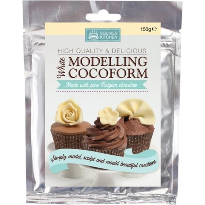 Squires Kitchen White Belgian Chocolate - SK Modelling Cocoform - Choose Your Sizes