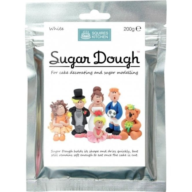 Squires Kitchen White - SK Sugar Dough Modelling Paste - Choose Your Size