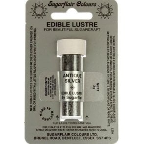 Antique Silver - Edible Lustre Dusting Colour 2g