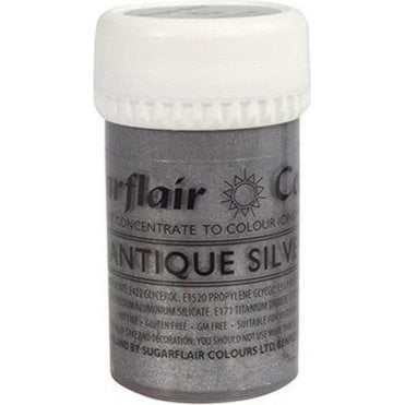 Antique Silver - Satin Paste Gel Food/Icing Colouring
