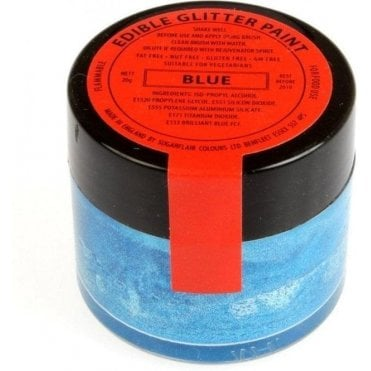 Blue Edible Glitter Paint 20g