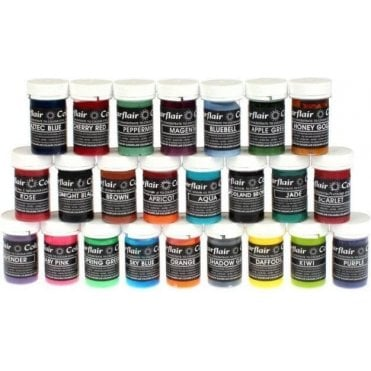 Full Set of 29 - Pastel Paste Food/Icing Colourings