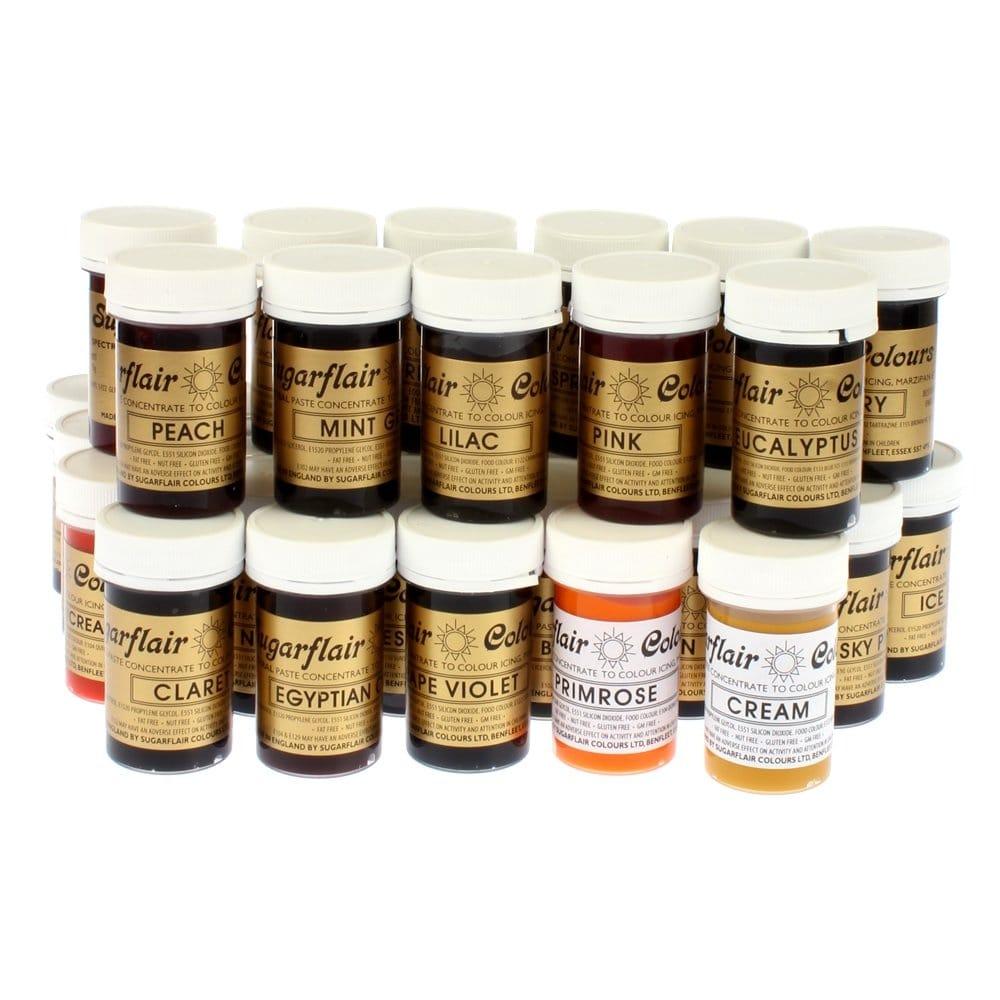 Cake Art Casting Gel Uk : Sugarflair Full Set of 39 Spectral Paste Gel Food/Icing ...