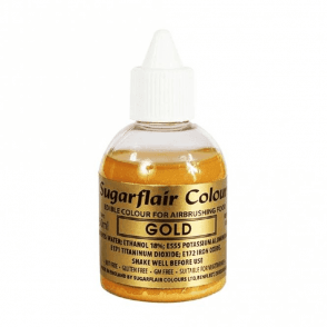 Gold - Edible Airbrush Liquid Colouring 60ml