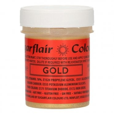 Gold - Edible Glitter Paint 35g
