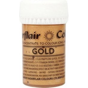 Gold - Satin Paste Gel Food/Icing Colouring