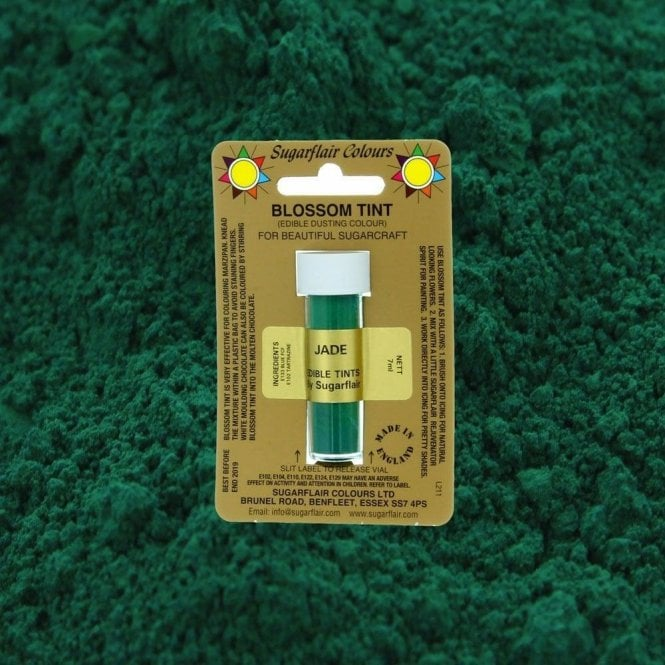 Sugarflair Colours Jade - Blossom Tint Dusting Colour 7ml Vial