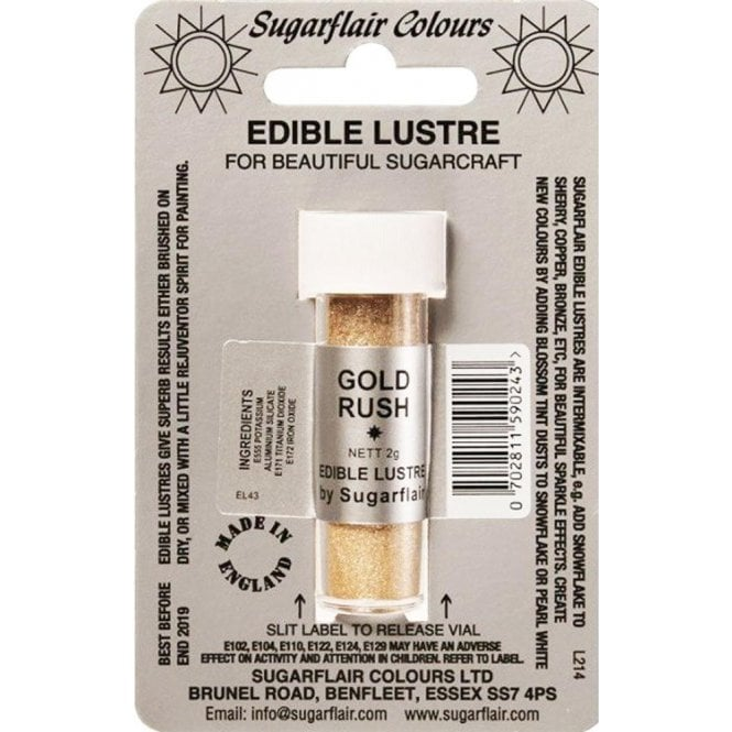Sugarflair Colours Pastel Gold - Edible Lustre Dusting Colour 2g