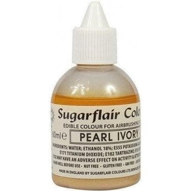 Pearl Ivory Glitter - Edible Glitter Airbrush Liquid Colouring 60ml