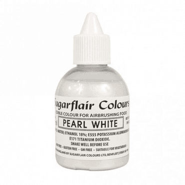 Pearl White - Edible Glitter Airbrush Liquid Colouring 60ml