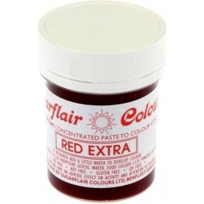 Red - Extra Concentrated Paste Gel Food / Icing Colourings - Choose Your Size