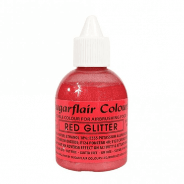Red Glitter - Edible Glitter Airbrush Liquid Colouring 60ml