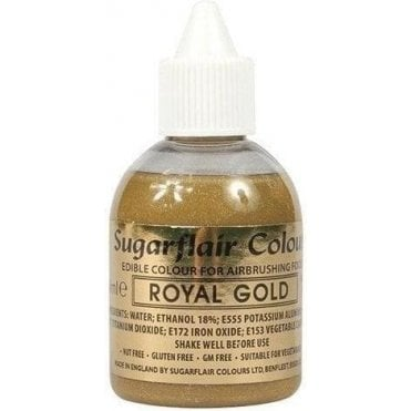 Royal Gold Glitter - Edible Glitter Airbrush Liquid Colouring 60ml