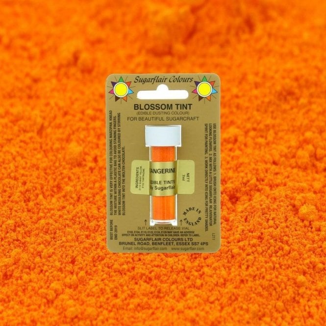 Sugarflair Colours Tangerine - Blossom Tint Dusting Colour 7ml Vial