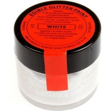White Edible Glitter Paint 20g